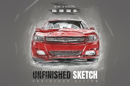 Unfinished Sketch Photoshop Action