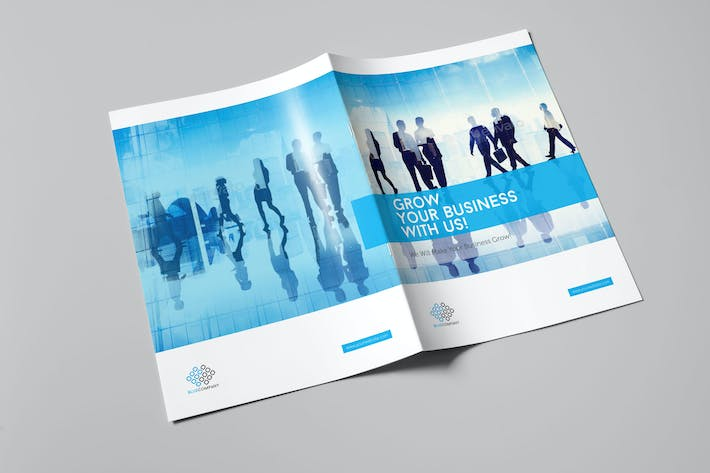 Cover Image For Blue Corporate Bifold