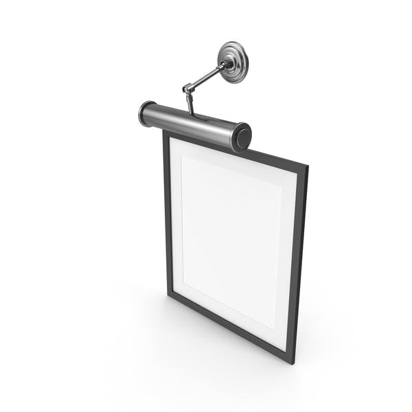 Black Picture Frame with Lamp