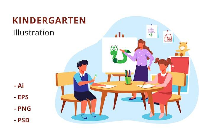 Thumbnail for Kindergarten Illustration