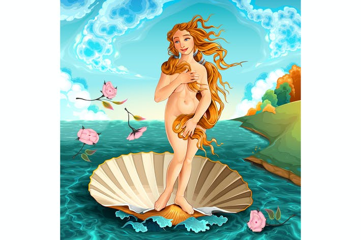 Thumbnail for Interpretation of Venus, Famous Painting by Sandro