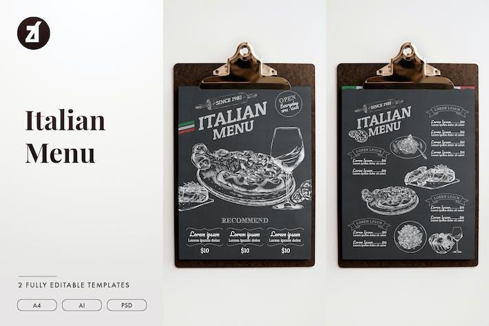 Thumbnail for Italian menu template