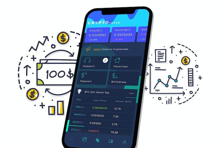 Thumbnail for Crypto Trade Home 2 Mobile Ui