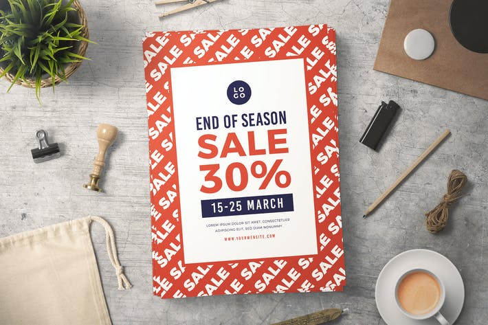 Thumbnail for End of Season Sale Flyer