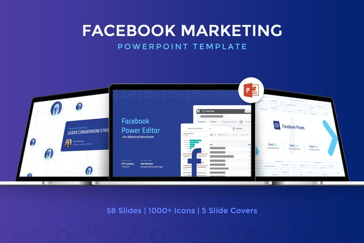 Thumbnail for Facebook Marketing Powerpoint Template
