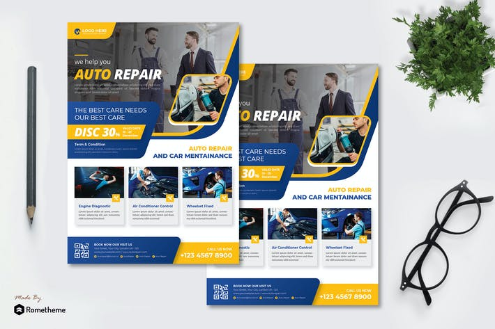 Thumbnail for Auto Repair - Flyer AC