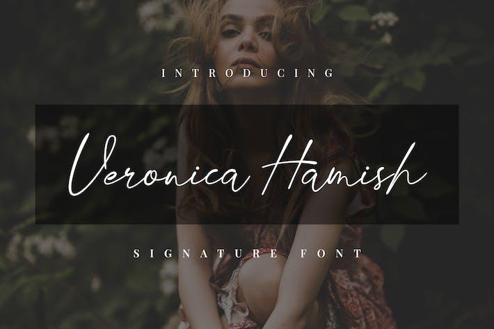Veronica Hamish Signature Handwritten Font