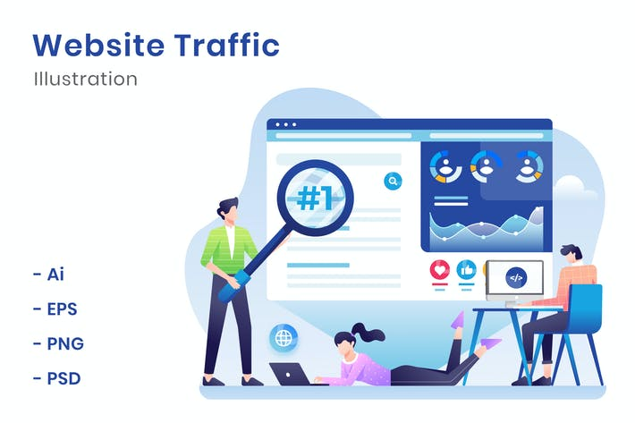 Cover Image For Website Traffic Illustration
