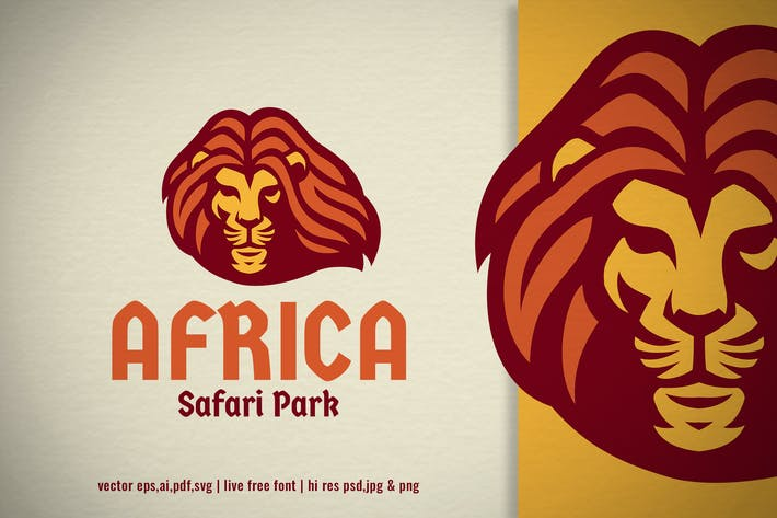 Thumbnail for african lion head logo
