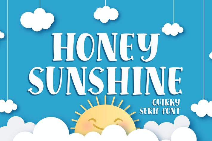 Thumbnail for Honey Sunshine - a Quirky Con serifa Font