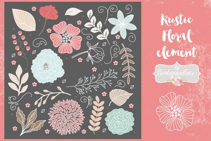 Thumbnail for Floral elements vector