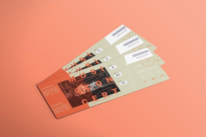 Thumbnail for Band Festival - Ticket Design