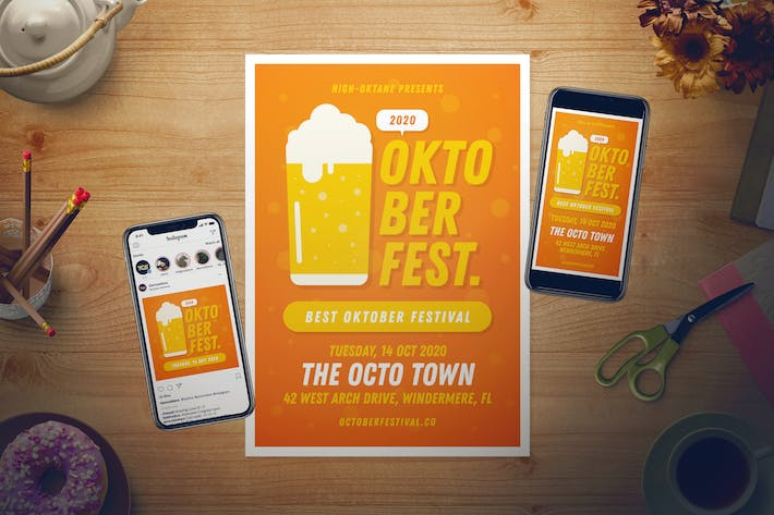 Thumbnail for Oktoberfest Flyer Set + Instagram Story