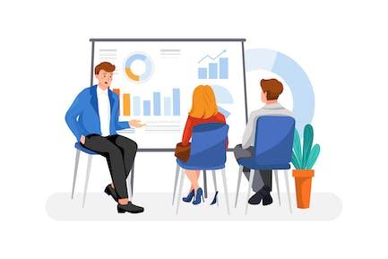 Concepto de ilustración de Business Training