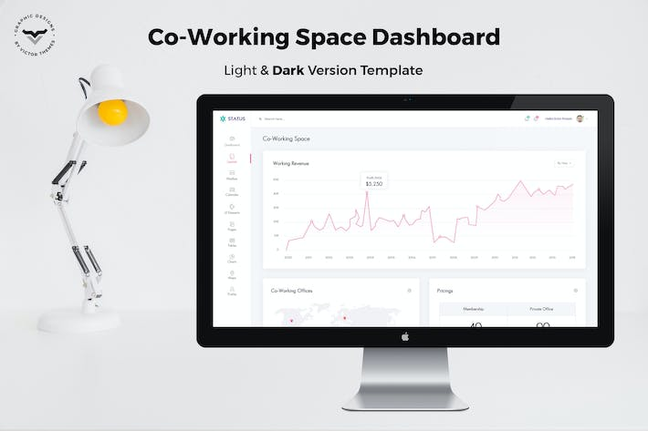 Thumbnail for Co Working Admin Dashboard UI Kit