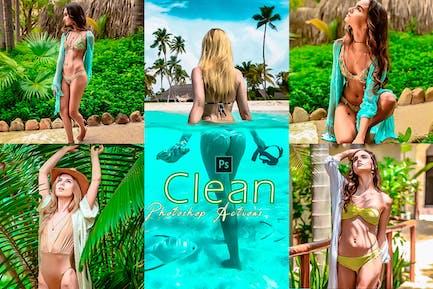 Acción de Photoshop de efecto limpio