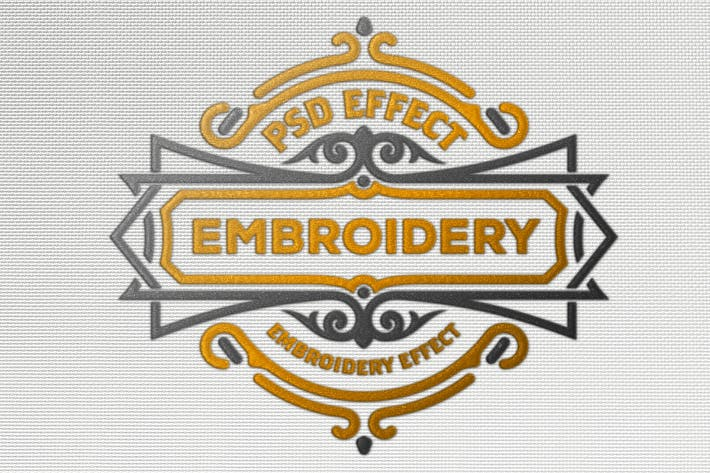 Thumbnail for Embroidery Effect Mockup