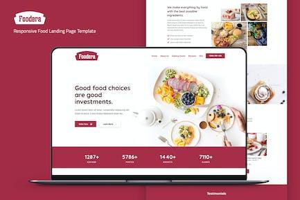 Foodera — Responsive Food Landing Page Template