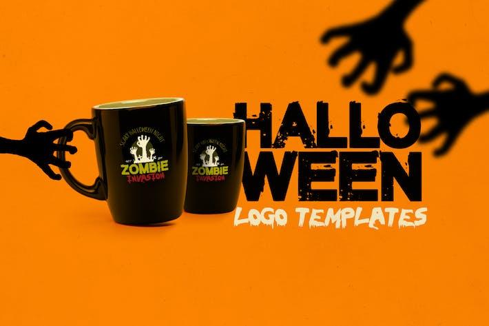 Thumbnail for Halloween Logo Templates