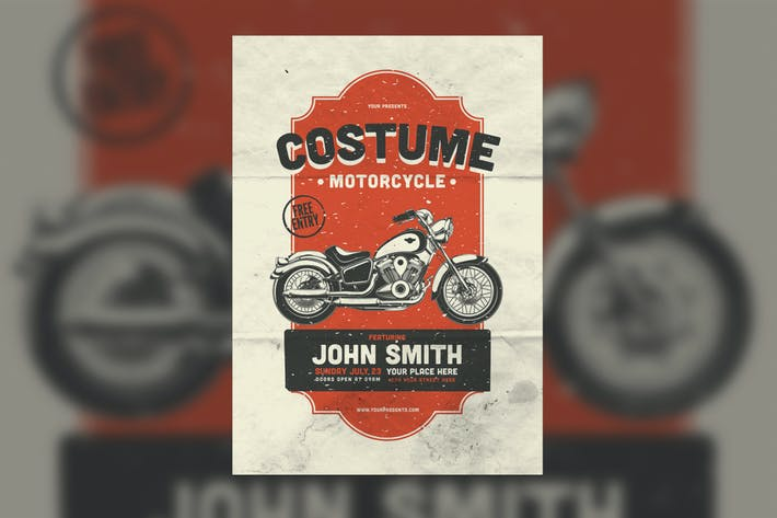 Cover Image For Costume Motorcycle Flyer