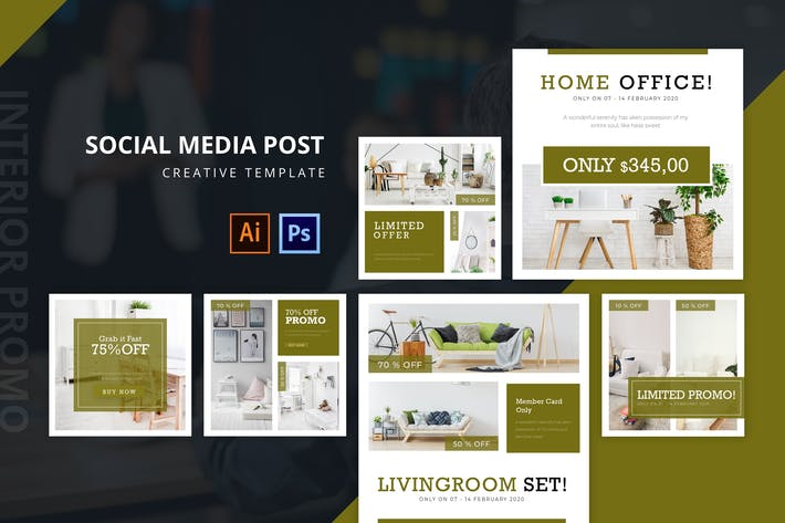Cover Image For Interior Social Media Post Template