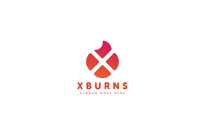 Thumbnail for X Burns Logo Letter Template