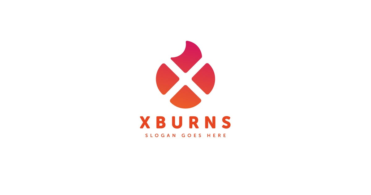 Download X Burns Logo Letter Template by Pixasquare