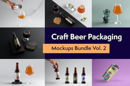 Craft Bier Verpackung Mock-ups Band 2