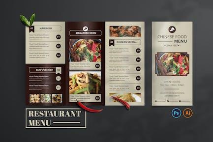 Oriental Food – Food Menu Design
