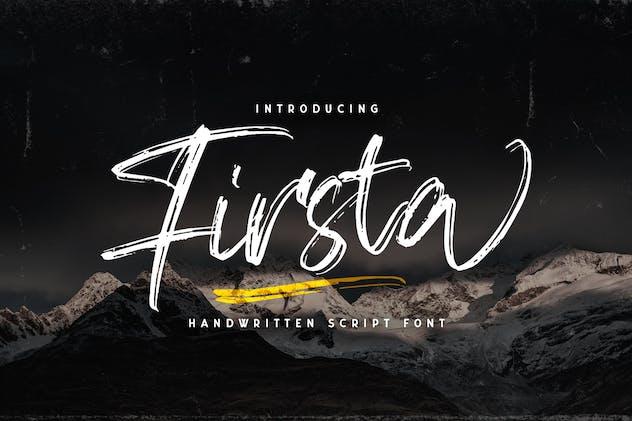 Firsta - Handwritten Font - product preview 14