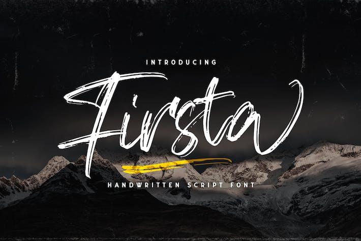 Thumbnail for Firsta - Handwritten Font