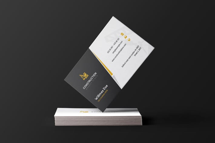 Cover Image For Construction - Business Card Template
