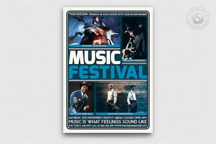 Thumbnail for Music Festival Flyer Template V5