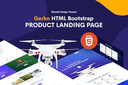 Gerko - Product Landing Page Template