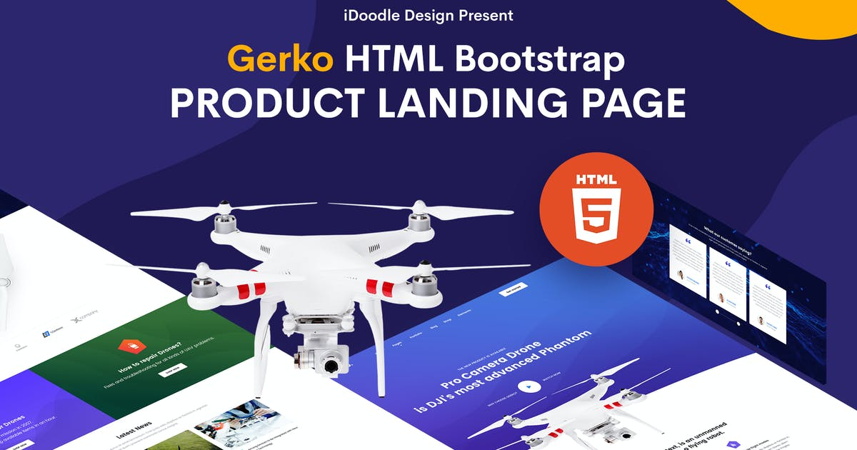Download Gerko - Product Landing Page Template by iDoodle