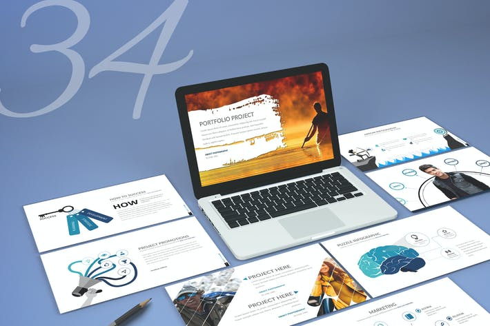 Cover Image For Thirty 4 - Keynote Template