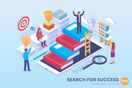 Concepto de búsqueda isométrica para el éxito