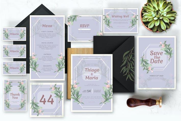 Thumbnail for Soft Violet Floral - Wedding Invitation