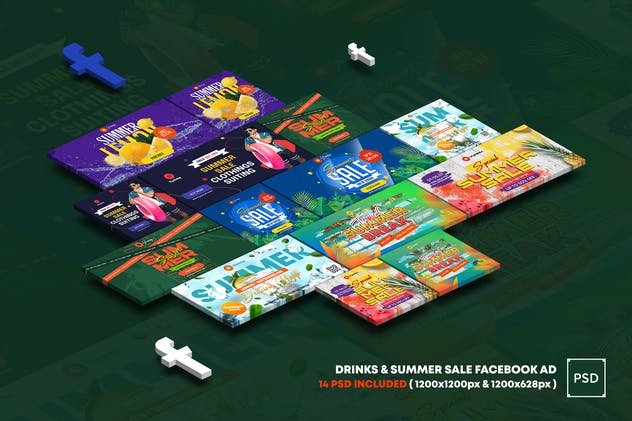 Drinks and Summer Sale Facebook Ad
