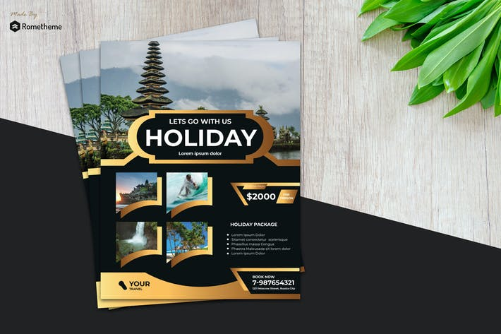 Thumbnail for Holiday Travel Flyer vol.8