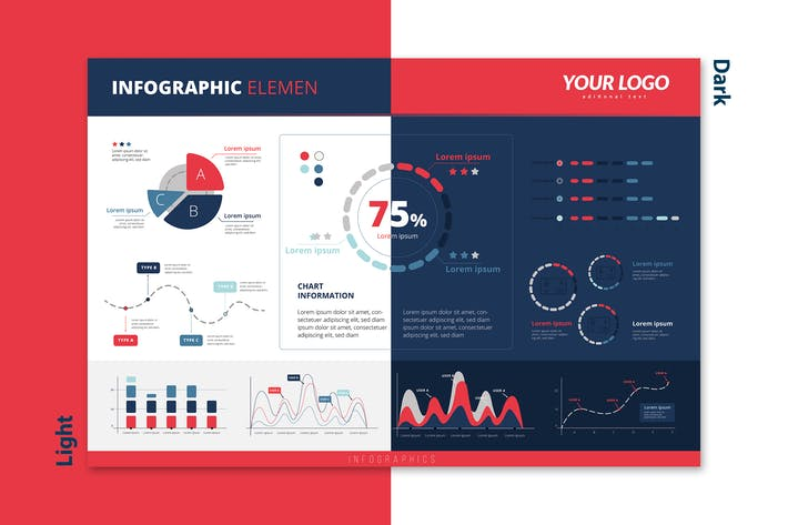 Thumbnail for Infographic Chart Elements for Business