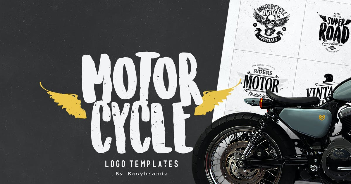 Download Motorcycle Logo Templates by Easybrandz2