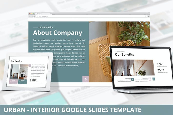 Thumbnail for Urban - Interior Google Slides Template