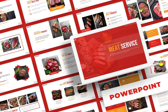 Meat Service - Powerpoint Template