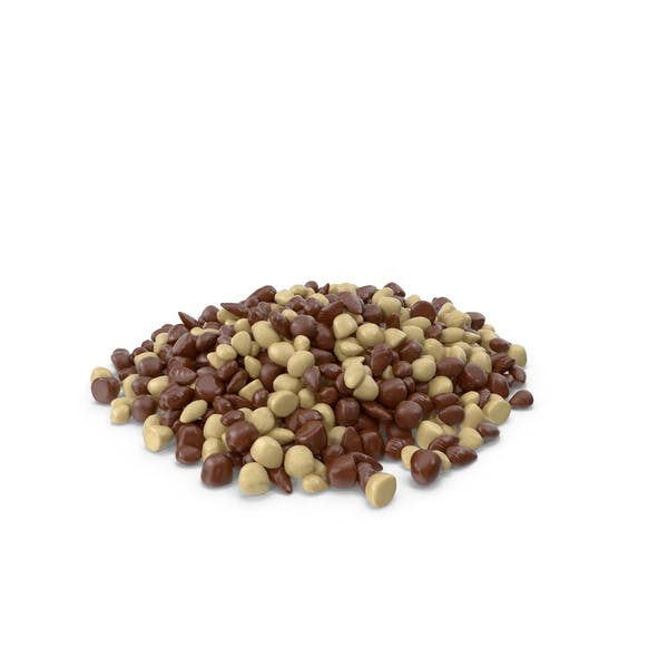 Large Pile of Mixed Almond Chocolate Candy