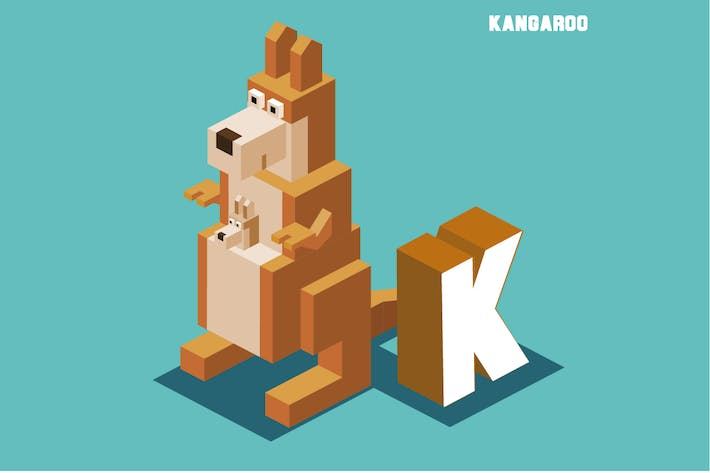 Thumbnail for K for kangaroo, Animal Alphabet