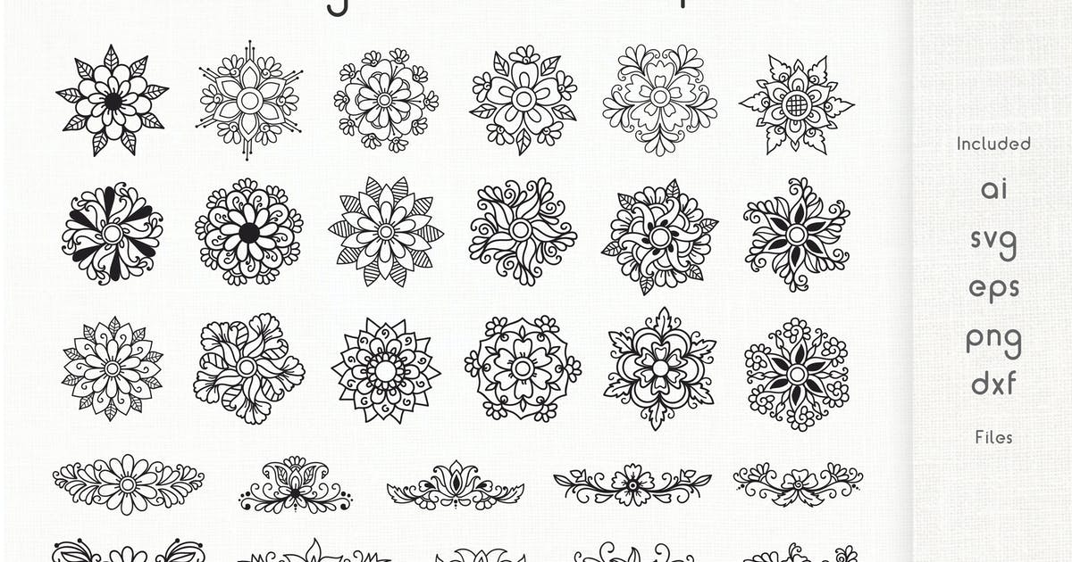Download Floral Design Elements - Cliparts by Muse-Master