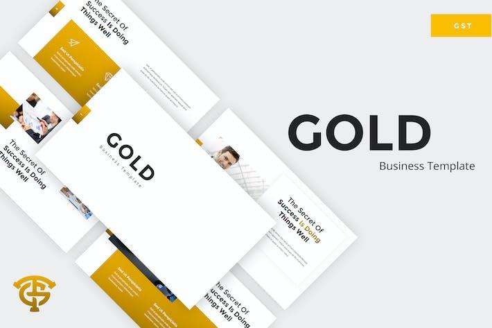 Thumbnail for Gold Business - Google Slides
