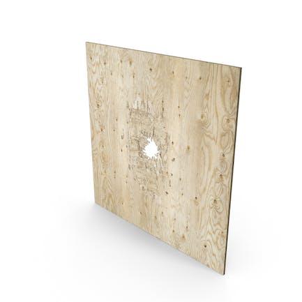 Bullet Loch durch Sperrholz