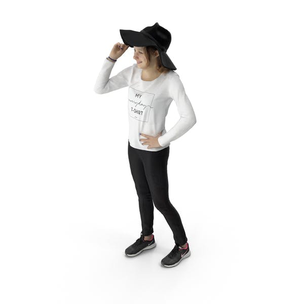 Thumbnail for Woman Standing with Hat